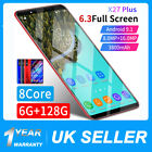 6.3'' Inch X27 Plus Smart Mobile Phone Android 9.1 Dual Sim Face Unlocked 6+128g