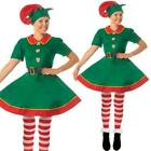 Womens Christmas Elf Fancy Dress Xmas Cosplay Adult Costumes Santa Mrs Claus