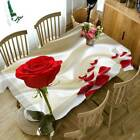 Rose Flower Dust-proof Fabric Table Runner Cover Dining Tablecloth Home Decor Ld