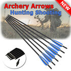 "16-22"" Archery Carbon Arrows Crossbow Bolts Target Tips Hunting Shooting Outdoor"