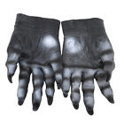 Adults Big Bad Wolf Werewolf Claws Gloves Paws Pair Halloween Fancy Props LD
