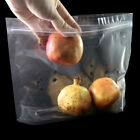 200 Clear Stand Up Die-Cut Fruit Storage Zip Lock Bags in Multiple Sizes