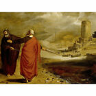 Pynas Aaron Transforming Water Of Nile Into Blood Large Wall Art Print 18X24 In