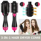 3 In 1 One Step Hair Dryer and Volumizer Brush Comb Straightening Curling Iron