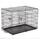 """48""""/42""""/36""""/30""""/24"""" Pet Kennel Cat Dog Folding Crate Wire Metal Cage W/Divider"""