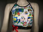 Red Betty Boop top Black White  Lace Halterneck Crop Birthday Party Retro summer $39.48 AUD on eBay