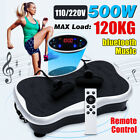 Body Vibration Machine Exercise Platform Massager Fitness bluetooth Music US/EU, used for sale  Shipping to Nigeria