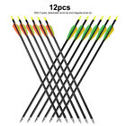 12pcs 20 inch Aluminum Arrows Compound Curved Bow Archery Target Outdoor Hunting