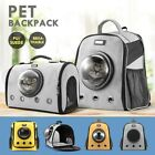 Petscene Cat Bubble Backpack Pet Carrier Kitten Puppy Travel Bag Orange