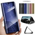 For Samsung Galaxy J7 Core Plus J8 Mirror Leather Magnetic Flip Stand Case Cover