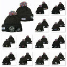 Embroidered NFL Teams Beanie Hat Winter Warm Knit Cap & Removable Colorful Pom $12.99 USD on eBay