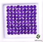 Natural Amethyst Round Cut 3 mm Lot Calibrated Faceted Untreated Loose Gemstones