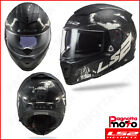 CASCO INTEGRALE FULL FACE DOPPIA VISIERA LS2 BREAKER FF390 DEFT MATT BLACK TITAN