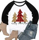 MAXIMGR Plus Size Have Yourself a Merry Little Christmas T-Shirt for Women 3/4 S