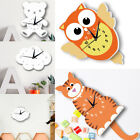 Unique Animal Cat Owl Wall Clock Smart Bear Angle Cat 3D Watch MHome Decor DIY