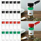 10 Salt Spice Jars Herbs Condiments Seasoning Pots Storage Containers 100ml +Lid