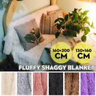 Super Soft Light Weight Faux Fur Warm Shaggy Throw Blanket for Couch/Sofa/Bed US image