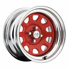 U.S. Wheel 022-5712PRC CHROME DAYTONA FWD DRIFTER RED 15 x 7 5 x 45 Bolt Circle