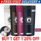 380ML Insulated Travel Coffee Mug Cup Thermal Stainless Steel Flask Vacuum UK