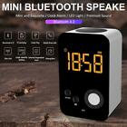 Portable Wireless Speaker with LED Light Clock Alarm Charging Smart Mini Speaker