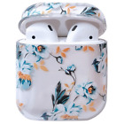 For Apple Airpods 1&2 Pro Charging Case Clear Hard PC Cover Floral Flower Cute