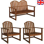 Garden Bench Sofa Chairs Armchair Solid Acacia Wood Garden Lounge Dining Furnit