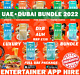 Dubai Entertainer 2020 LUXURY Bundle *FINE DINING + ATTRACTIONS* 8 Day App Rent