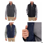 Orvis Mens Quilted Full Zip Up Vest L XL Pockets Sleeveless Brand New Gray Navy