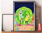 Fabric poster cartoon Rick and Morty.