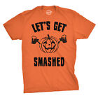 Mens Lets Get Smashed Funny T shirts Pumpkin Halloween Costume T shirt