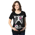 Maternity Baby Girl Skeleton Cute Halloween Pregnancy Bump Tshirt