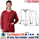 Maevn Scrub RED PANDA Women's Round Neck Long Sleeve Warm up Jacket 8706