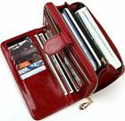 Women Wallet Soft Leather Bifold Clutch Wallet Large Capacity Long Purse with St