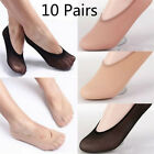 10Pair Womens Loafer Invisible No Show Nonslip Liner Low Cut Cotton Boat Sock  .