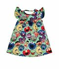 Kyпить Green Sesame Street Inspired Milk Silk Flutter Dress на еВаy.соm