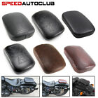Motorcycle Rear Fender Passenger Pillion Pad Seat 8 / 6 Suction Cups For Harley  image