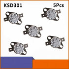 5Pcs KSD301 Temperature Switch Control Sensor Thermal Thermostat 0°-160° NO NC