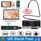 1200P HD WiFi Endoscope 8 LED Bendable Cable IP68 Waterproof Inspection Camera