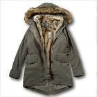 NWT Abercrombie&Fitch by Hollister 3-In-1 Faux Shearling Fur Lined Parka Jacket