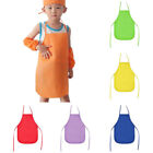 Kids Children Solid Non-woven Bib Aprons Painting Craft Handmake Class Wear