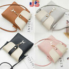 Women PU Leather Handbag Shoulder Cross-Body Bag Tote Messenger Satchel Purse US image