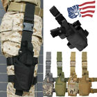 Right Drop Leg Adjustable Tactical Pistol Gun Thigh Holster Pouch Fits Full Size