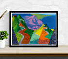 David Hockney Poster Print Art - Pacific Coast Highway - Various Sizes #Charity