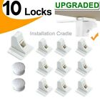 10X Magnetic Cabinet Drawer Cupboard Locks for Baby Kids Safety Child Proof