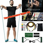 11PCS Resistance Bands Set Yoga Pilates Latex Exercise Fitness Tube Workout Band image