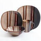 16 Piece Dinnerware Set Service For 8 Kitchen Stoneware Dishes Bowls Plates Mug