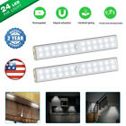 24 LED Under Cabinet Light Motion Sensor USB Rechargeable Wireless Closet Lights