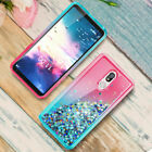 For LG Stylo 5/5X/4 Plus Shockproof Quicksand Case + Full Cover Screen Protector