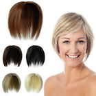 Short Topper Hair Piece Closure 1/2 Full Head Clip in Hair Bangs Hair Extensions