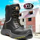 V12 Avenger IGS S3 Safety Work Boots High Leg Zip VR620 Black sizes 14-15 & 16